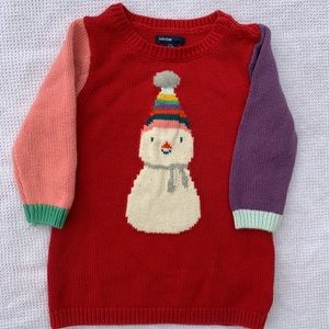 Gap Snowperson Sweater Dress 12-18 months